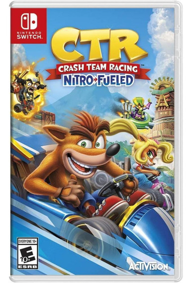 Crash Team Racing Nitro Fueled Switch Mídia Física Novo