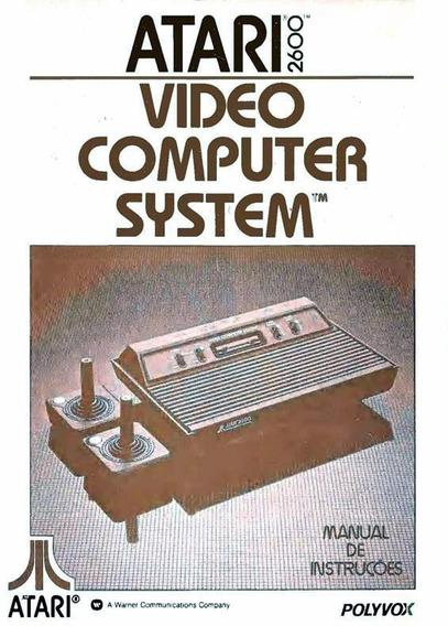 Atari 2600 (polyvox) 2 Controles + 1 Jogo