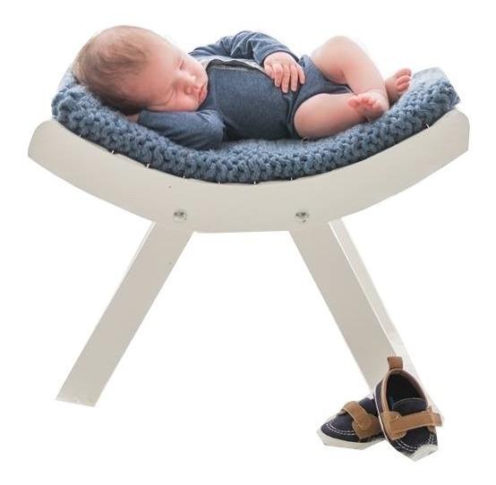 Banco Curvado Branco Prop Foto Newborn Acompanhamento Bebê