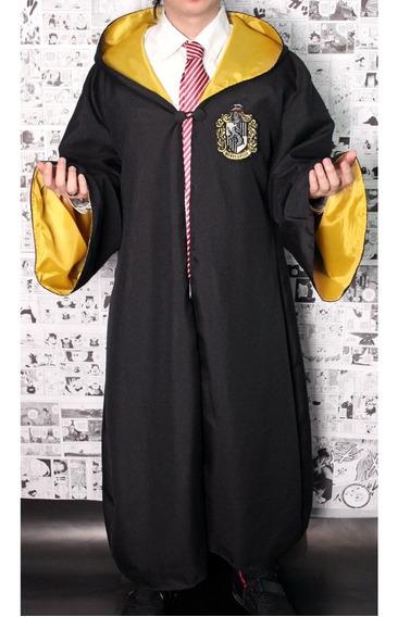 Capa + Gravata + Varinha Harry Potter - Fantasia Carnaval