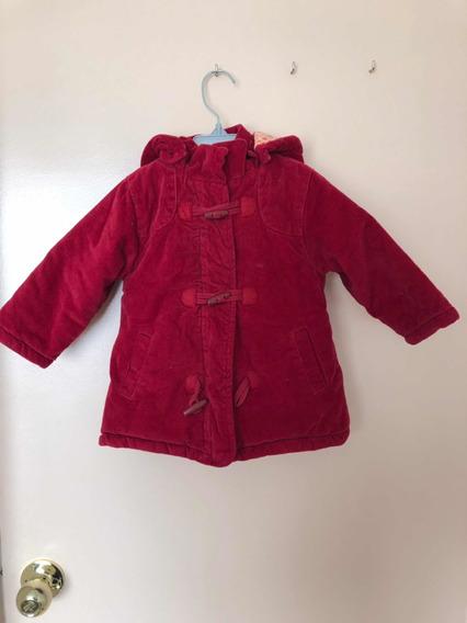 Abrigo Rojo Bebé 6 A 12 Meses, Hecho En Alemania