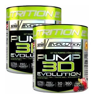 Pump 3d 360 Grs X 2 Un. Pre Entrenamiento Star Nutrition