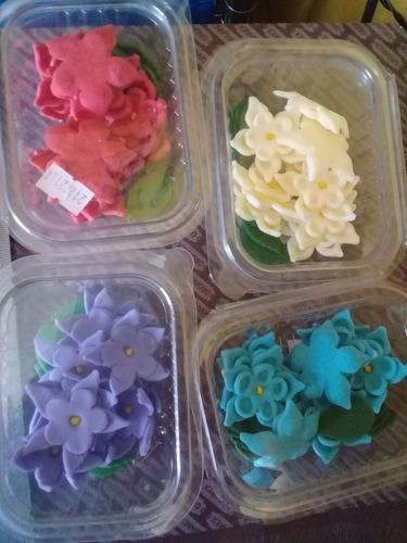 Flor Doble Comestible Pastillaje Decoración Tortas Cupcakes
