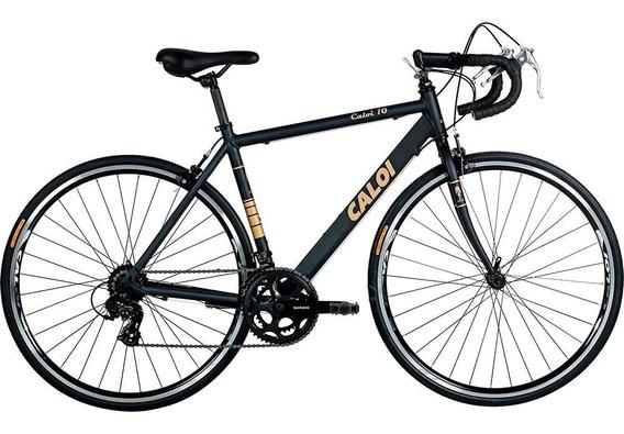 Bicicleta Caloi 10 Aro 700 Speed Preta/dourada