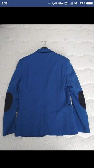 Saco Color Azul Rey Talla L
