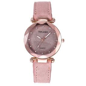 Moda Cristal Mulheres Relógios Rosa Feminino Luxo
