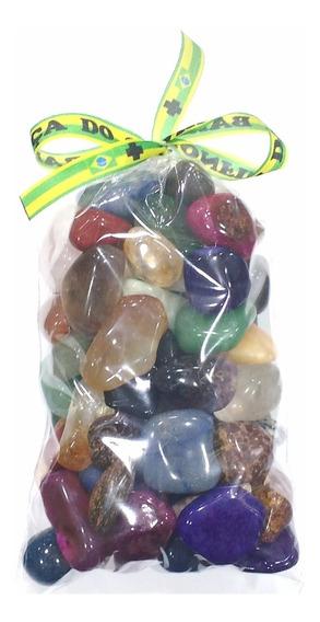 Saco 500g Pedras Brasileiras Naturais Sortidas Polidas 2-4cm