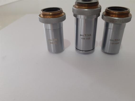 Objetivas Aus Jena Alemã Apocromáticas Para Microscópio
