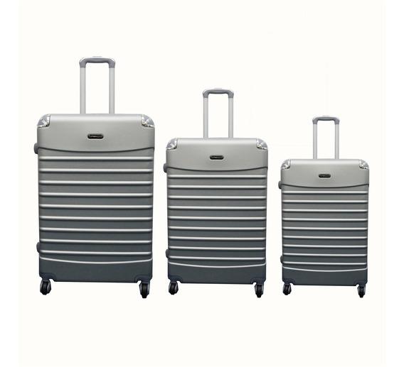 Kit Conjunto Mala De Viagem Rigida Giro Cadeado Travel Love