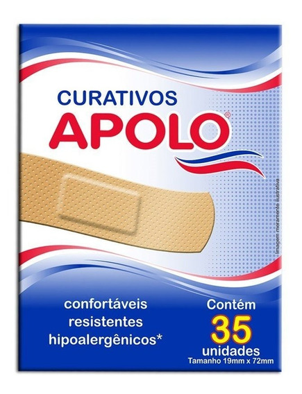 Curativo Apolo Hipoalergenicos 35unidades