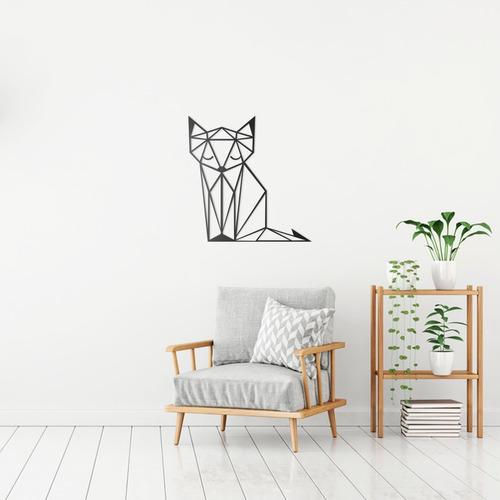 Quadro Decorativo Parede Animal Gato Minimalista 02 90cm