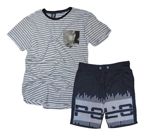 Kit Bermuda Masculina E Camiseta Swag