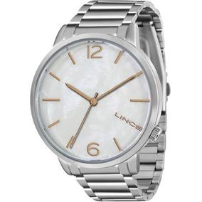 Relógio Feminino Lince Prata Fundo Perolado Lrtj043l-b2sx