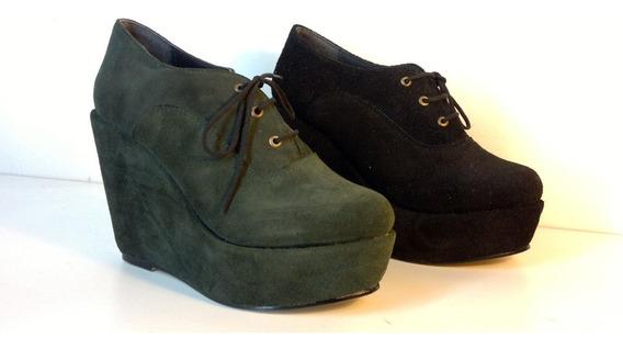 Zapato De Plataforma Forrada - Nina Molina - Art. 6740
