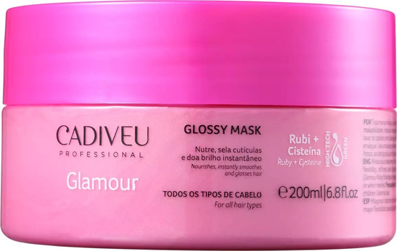 Cadiveu Mascara Glamour Rubi Glossy 200ml