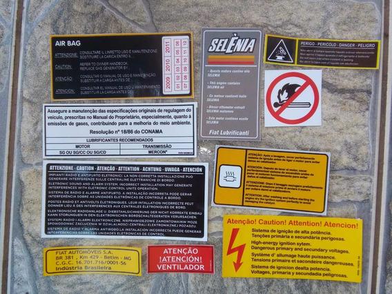 Etiquetas Adesivas Controle De Qualidade Fiat Selos De Motor