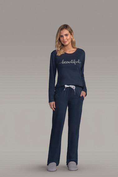 Pijama Longo De Malha Adulto Ref - 130254