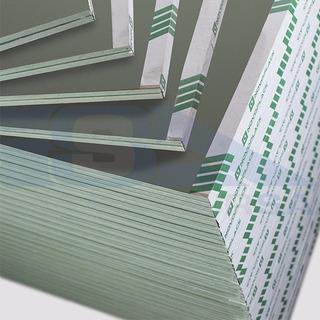 Placa Yeso Impregnada Hidrofuga Verde 2,40 X1,20 12,5mm