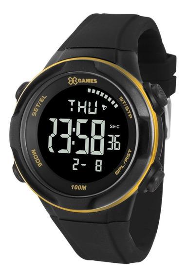 Relógio X-games Masculino Digital Xmppd510 Preto Negativo