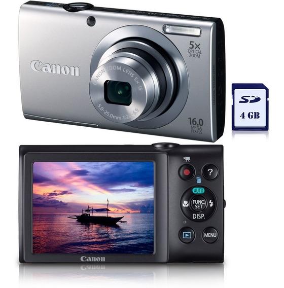 Câmera Digital Canon Powershot A2400 Is 16 Mp, C/ 5x Zoom Óp