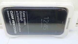 Capa Original Para Galaxy A7 Vista Transparente- Flip Cover