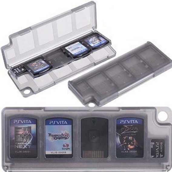 Caixa Case Estojo 10 Espaços Porta Jogos Sony Psvita Ps Vita