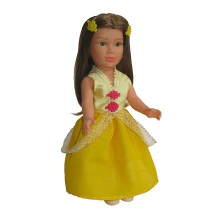 Boneca Para Menina Brincar Com As Amigas De Princesa Bela