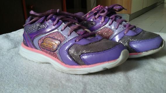 Zapato De Niña Skcher Talla 32