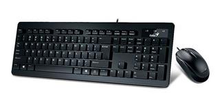 Teclado+mouse Genius Slimstar C130 Black Usb