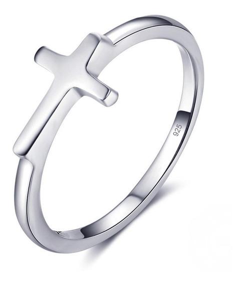 Anel De Prata Maciça 925 Cruz - Exclusivo - Compre Joias Direto Da Fábrica E Economize Dinheiro