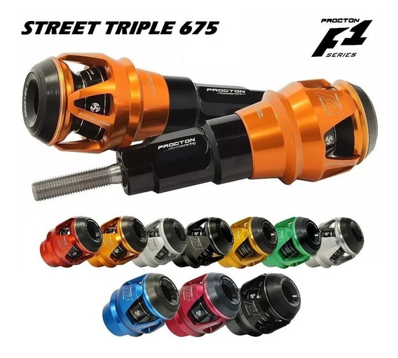 Slider Protetor Motor F1 Procton Triumph Street Triple 675 R