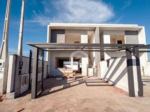 Casa De Alto Padrão À Venda Com 3 Dormitórios, 123 M²  - Bela Vista - Estância Velha/rio Grande Do Sul - Ca1056