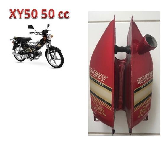 Tanque Vermelho Com Adesivo Da Xy50 Smarth Shineray