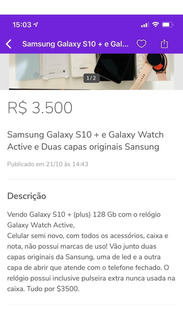 Galaxy S10 + 128 E Watch Active