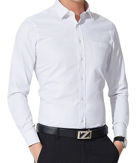 Camisa Slim Social + Sapato Moderno Social Verniz-luxo Top*