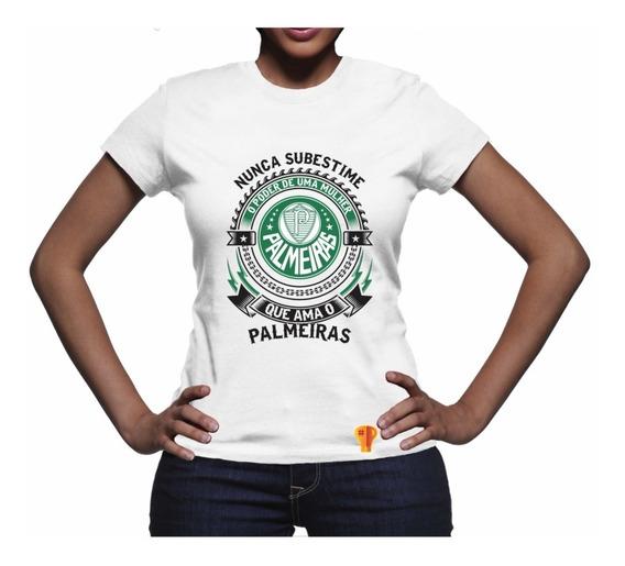 Palmeiras Camiseta Ama Futebol Feminina T Shirt Brusinha