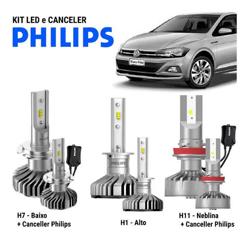 Full Led C/ Canceler Philips Farol E Internos - Polo Virtus