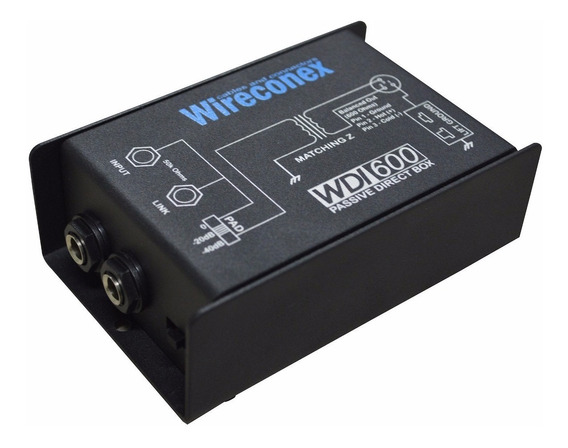 Kit 5 Direct Box Wireconex Wdi-600