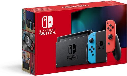 Nintendo Switch Neon Nueva Versión Caja Roja Inc Iva Garant