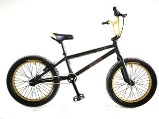 Bicicleta Cutie Sbk Bmx Rodado 20 Acero Negro & Dorado