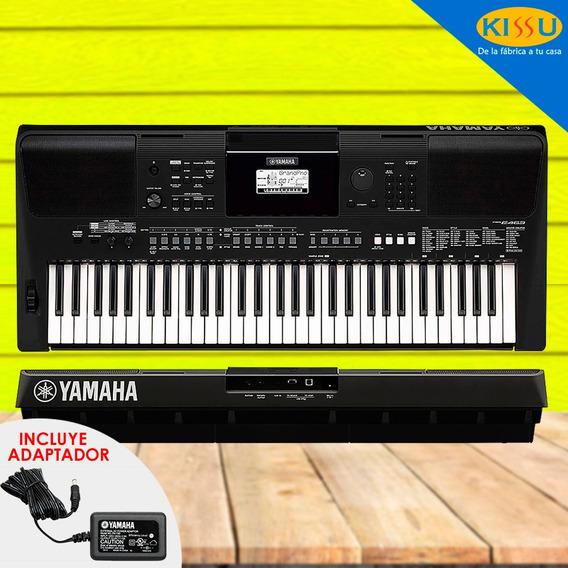 Teclado Yamaha Psr-e463 61 Teclas Incluye Adaptador Original
