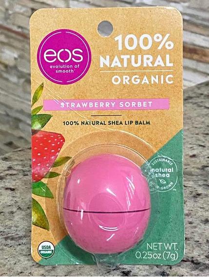 Eos Lip Balm 100% Organic Strawberry Sorbet Original