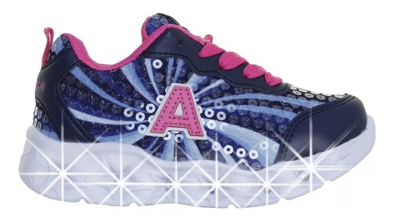 Zapatillas Addnice Starlight Luces Led Cordon Niña Moda 19