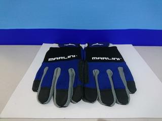 Guantes De Pelea Azul /negro Xl Marlini.