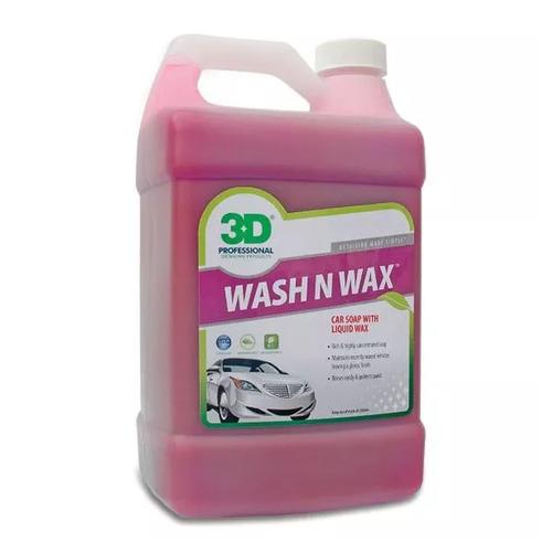 3d Wash N Wax Shampoo Ph Neutro Con Cera 4 Lts - Allshine
