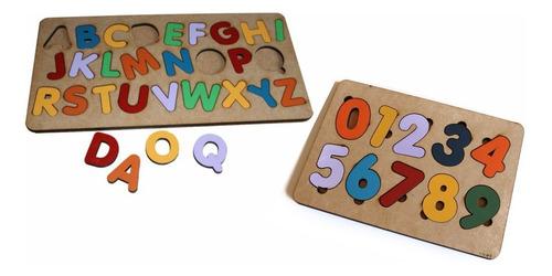 Imagem 1 de 3 de 2 Tabuleiros Alfabeto+ Números Brinquedos Pedagógicos