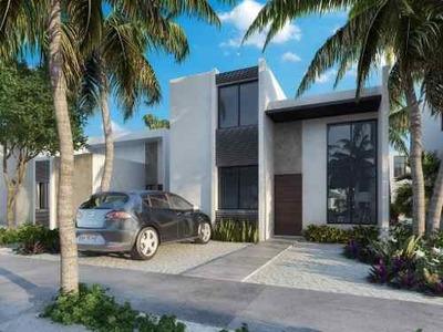 Casa Nueva En La Playa De Chelem, En Nuevo Desarrollo De Privadas Residenciales Con Amenidades