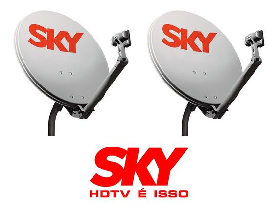 5 Antenas Banda Ku 60cm ( Acompanha Lnb )