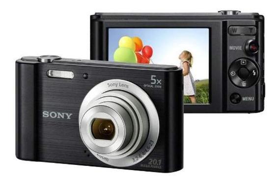 Camera Sony W800 Cor Preta E Prata