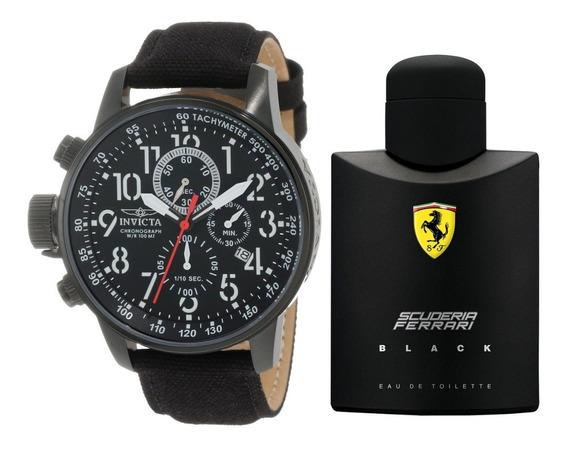 Rélogio Invicta Rally 1517 Brinca Perfume Ferrari Black